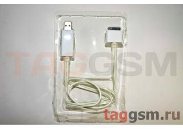 USB для iPhone 4 / iPhone 3 / iPad / iPad 2 / iPod светящийся, в ассортименте