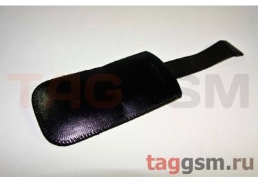 Чехол с вытяжкой кожа SE J700 (черный)