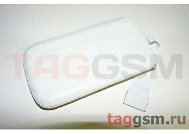 Чехол Premium для Samsung GT-I8190 Galaxy S III mini с внутренним языком (белая с тиснением (17))