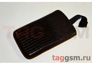 Сумка для HTC 4G Max с внутренним языком коричневый варан