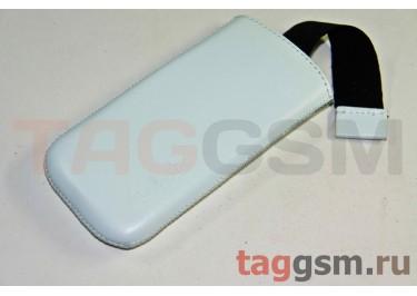 Сумка Valenta для Nokia C7 с внутренним языком (кожа белая)