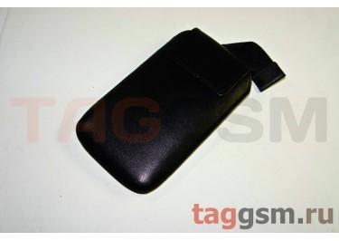 Сумка для HTC Desire HD с внутренним языком на магните чёрная