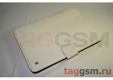 Сумка футляр-книга Armor Case Lux для Samsung GT-N8000 с жёсткой основой (белая)