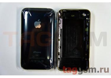 Задняя крышка для iPhone 3G 8GB в сборе с хром. рамкой (черный)