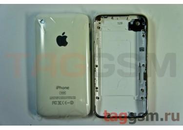 Задняя крышка для iPhone 3G 16GB в сборе с хром. рамкой (белый)