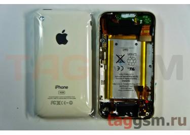 Задняя крышка для iPhone 3G 16GB в сборе с хром. рамкой + разъем зарядки + разъем гарнит. + АКБ (белый)