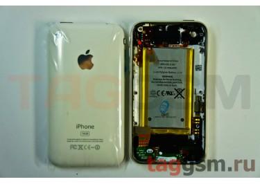 Задняя крышка для iPhone 3GS 16GB в сборе с хром.рамкой + разъем заряд + разъем гарн + АКБ (белый)