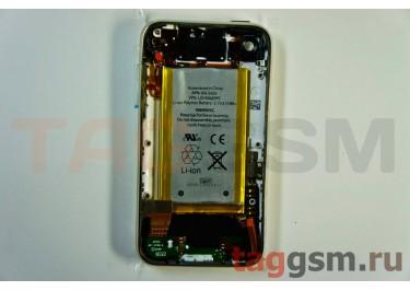 Задняя крышка для iPhone 3GS 32GB в сборе с хром.рамкой + разъем зарядки + разъем гарнит. + АКБ (белый)