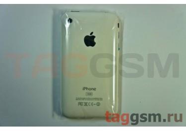 Задняя крышка для iPhone 3G 16GB в сборе с хром. рамкой + разъем зарядки + разъем гарнит. (белый)