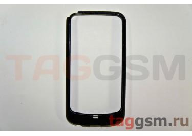Бампер-ободок Samsung i9250 (черно-белый)