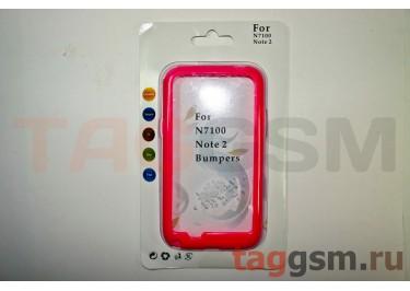 Бампер-ободок Samsung Note 2 N7100 (розовый)