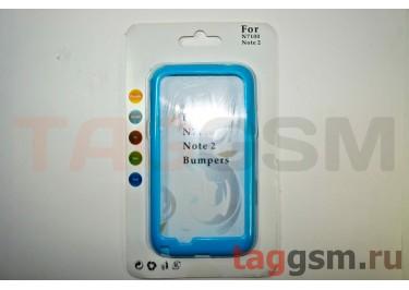 Бампер-ободок Samsung Note 2 N7100 (синий)