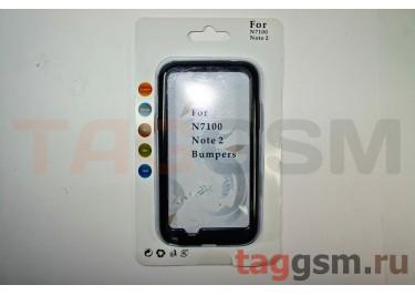 Бампер-ободок Samsung Note 2 N7100 (черный)