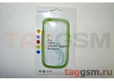 Бампер для Samsung GT-I8190 Galaxy S III mini (прозрачно-зелёный)
