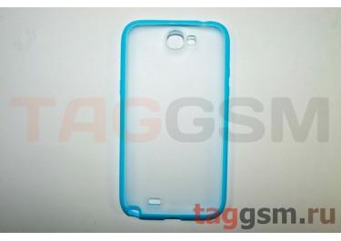 Бампер-ободок задняя крышка Samsung Note 2 N7100 (голубой)
