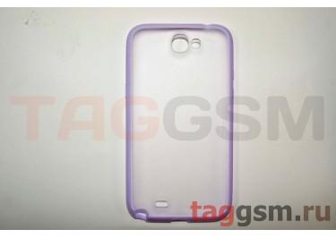 Бампер-ободок задняя крышка Samsung Note 2 N7100 (сиреневый)