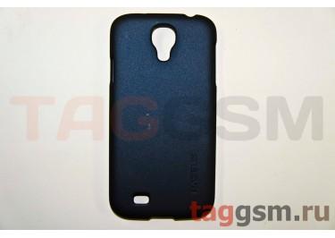 Задняя накладка Baseus для Samsung GT-I9500 Galaxy S IV (с шёлковым покрытием чёрная + стилус)