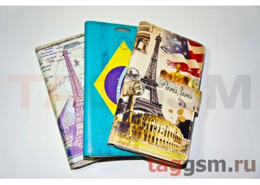 Футляр-книга Samsung N7100 Belk (c рисунком) в ассортименте