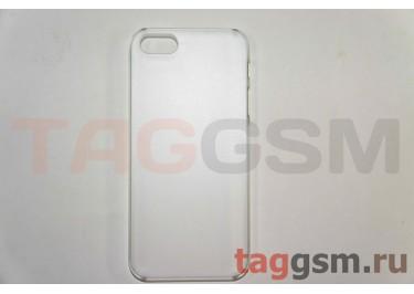 Задняя накладка ультра тонкая iPhone 5 пластик матовая белая