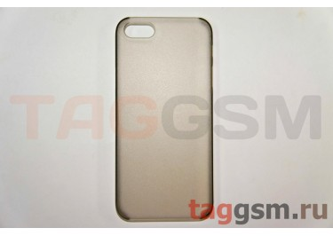 Задняя накладка ультра тонкая iPhone 5 пластик матовая черная