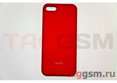 Задняя накладка Moshi iPhone 5 пластик красный