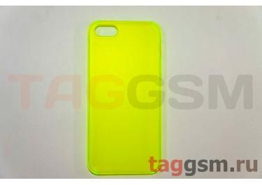 Задняя накладка ультра тонкая iPhone 5 пластик матовая зеленая