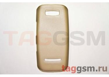 Задняя накладка ультра тонкая Nokia 305 пластик матовая черная