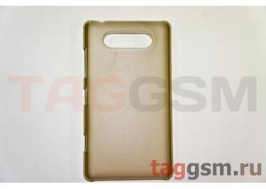 Задняя накладка ультра тонкая Nokia 820 пластик матовая черная