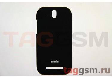 Задняя накладка Moshi HTC ONE ST (T528T) пластик черный