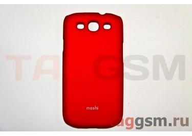 Задняя накладка Moshi Samsung i9300 пластик красный