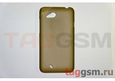 Задняя накладка ультра тонкая HTC Desire VC (T328D) пластик матовая черная
