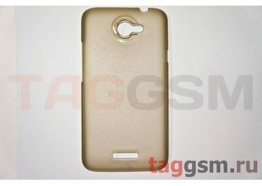 Задняя накладка ультра тонкая HTC ONE X пластик матовая черная
