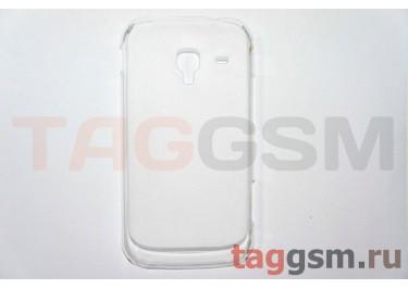 Задняя накладка ультра тонкая Samsung i8160 пластик матовая белая