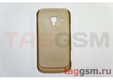 Задняя накладка ультра тонкая Samsung i8160 пластик матовая черная