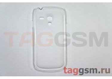 Задняя накладка ультра тонкая Samsung i8190 пластик матовая белая