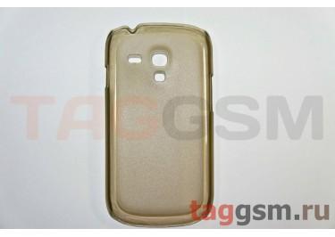 Задняя накладка ультра тонкая Samsung i8190 пластик матовая черная