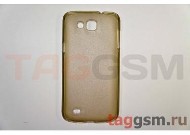 Задняя накладка ультра тонкая Samsung i9260 пластик матовая черная