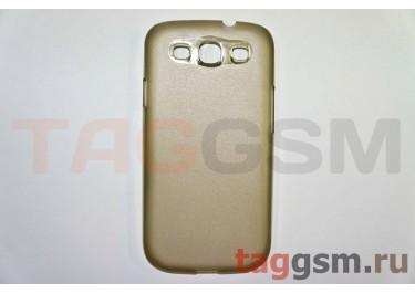Задняя накладка ультра тонкая Samsung i9300 пластик матовая черная