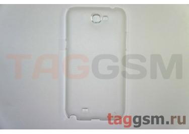 Задняя накладка ультра тонкая Samsung N7100 пластик матовая белая
