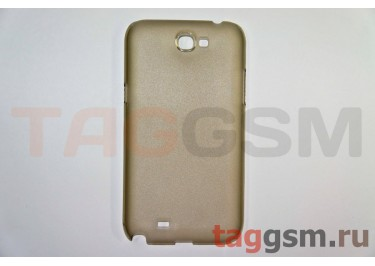 Задняя накладка ультра тонкая Samsung N7100 пластик матовая черная