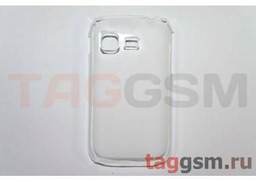 Задняя накладка ультра тонкая Samsung S5300 пластик матовая белая