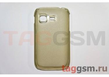 Задняя накладка ультра тонкая Samsung S5300 пластик матовая черная