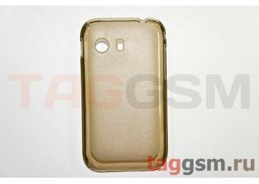 Задняя накладка ультра тонкая Samsung S5360 пластик матовая черная