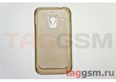Задняя накладка ультра тонкая Samsung S7500 пластик матовая черная