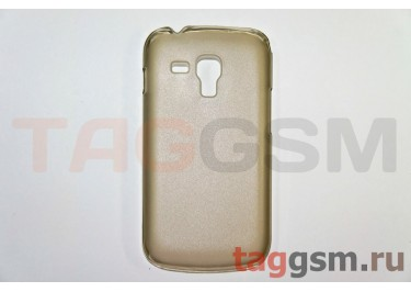 Задняя накладка ультра тонкая Samsung S7562 пластик матовая черная