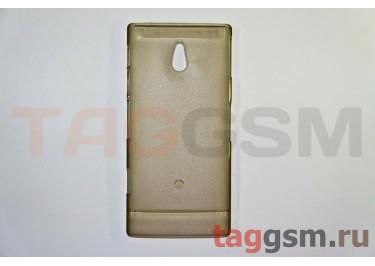 Задняя накладка ультра тонкая Sony-Ericsson LT22iпластик матовая черная