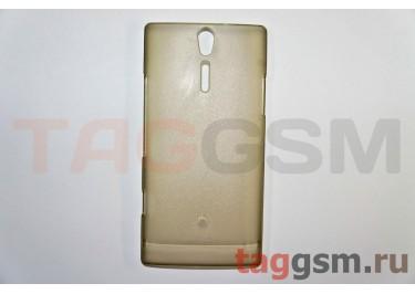 Задняя накладка ультра тонкая Sony-Ericsson LT26iпластик матовая черная