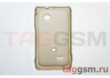 Задняя накладка ультра тонкая Sony-Ericsson ST21iпластик матовая черная