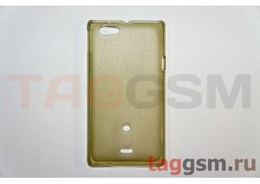 Задняя накладка ультра тонкая Sony-Ericsson ST23iпластик матовая черная
