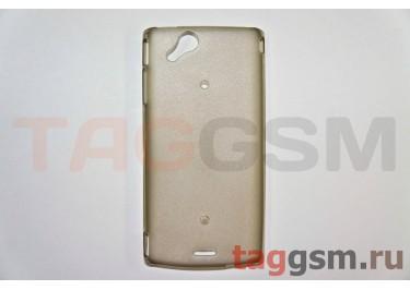 Задняя накладка ультра тонкая Sony-Ericsson X12  Xperia Arc пластик матовая черная